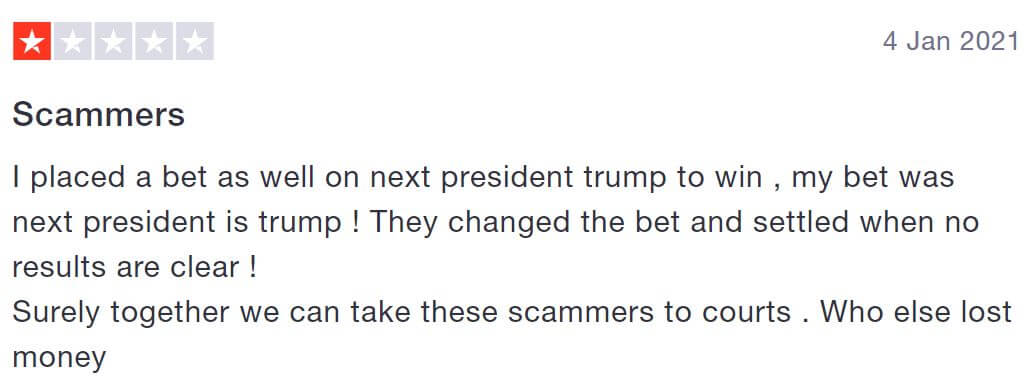 Betfair scam complaint