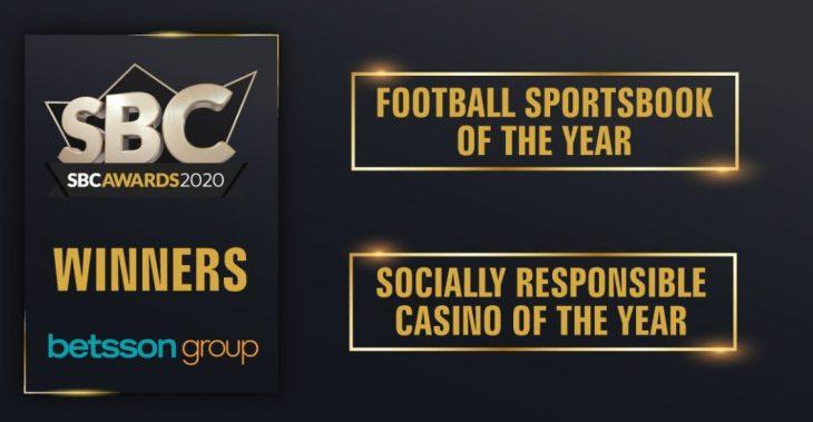 Betsson's SBS awards 2020 win