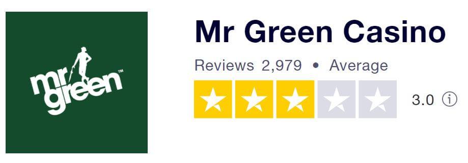 Mr Green TrustPilot score