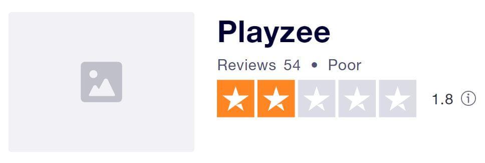 Playzee's TrustPilot score
