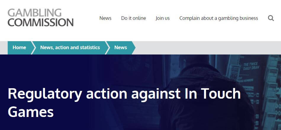 Regulatory action by UKGC against Intouch Games