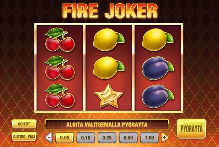 fire joker kolikkopeli