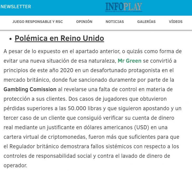 mr green polemica reino unido