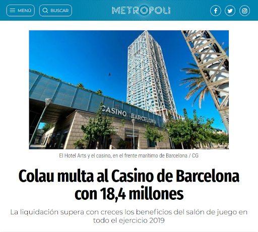 casino barcelona multado