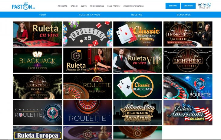 juegos de mesa paston casino