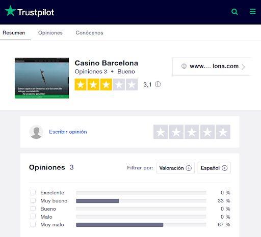 opiniones casino barcelona trustpilot